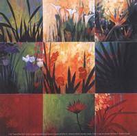 "Tropical Nine Patch by Don Li-Leger - 5"" x 5"""