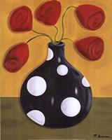 Polka Dot Tulips Fine Art Print