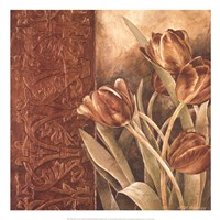 "Copper Tulips I by Linda Thompson - 20"" x 20"""
