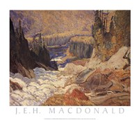 "Falls, Montreal River by James Edward Hervey MacDonald - 23"" x 20"", FulcrumGallery.com brand"