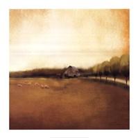 "Rural Landscape I by Tandi Venter - 28"" x 28"""