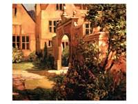Sunlit Courtyard Framed Print