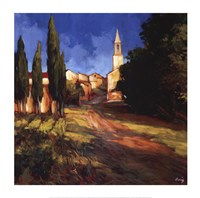 Pathway to the Villa Framed Print