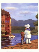 "The Road to Portofino by Bryan Ubaghs - 12"" x 16"", FulcrumGallery.com brand"