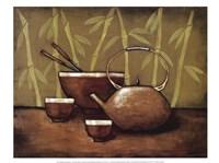 Bamboo Tea Room II Framed Print