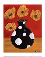 Polka Dot Poppies Fine Art Print