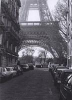 "Street View of ""La Tour Eiffel"" Framed Print"
