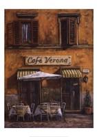 Caf Verona Fine Art Print
