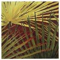 "Three Palms, Panel B by Debra Jackson - 19"" x 19"""