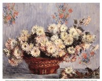 Basket of Chrysanthemums, c.1878 Framed Print