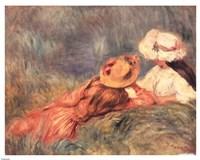 Jeune Filles Au Bord De L'Eau Fine Art Print