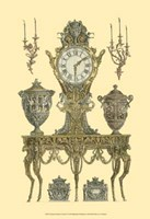 Antique Decorative Clock II Fine Art Print