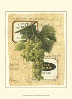 Small White Grapes II Framed Print