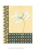 """Glazed Tile Botanical I by Chariklia Zarris - 10"""" x 13"""""""