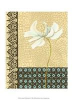 "Crackled Tile Botanical I by Chariklia Zarris - 10"" x 13"""