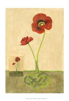 """Entwined Poppies by Vanna Lam - 13"""" x 19"""""""