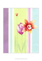 "Flowers & Stripes I by Vision Studio - 13"" x 19"""