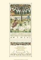 Goosey, Goosey Gander Fine Art Print