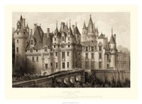 """Sepia Chateaux II by Victor Petit - 30"""" x 22"""""""