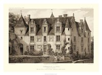 """Sepia Chateaux III by Victor Petit - 30"""" x 22"""""""