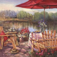 Summer Patio Fine Art Print