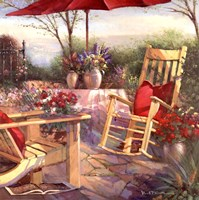 Patio Chaise Fine Art Print