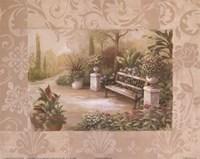 Garden Bench I Fine Art Print