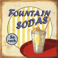 Fountain Sodas Fine Art Print
