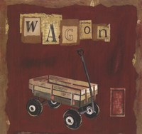 """Wagon by Kate and Liz Pope - 9"""" x 9"""", FulcrumGallery.com brand"""