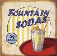 Fountain Sodas Framed Print