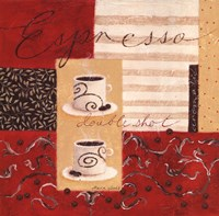"Double Shot Espresso by Maria Woods - 12"" x 12"""