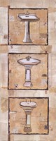 "Vintage Sinks I by Kate and Liz Pope - 8"" x 20"""
