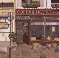 Coffee House Corner Fine Art Print