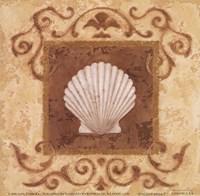 "Stylized Shell I by Jane Carroll - 6"" x 6"""
