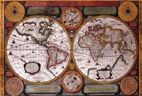 Map - Terre Universelle Fine Art Print