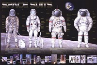 """Space Suits - 36"""" x 24"""""""