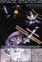 """Space Stations - 24"""" x 36"""""""