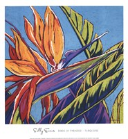 Birds of Paradise - Turquoise Fine Art Print