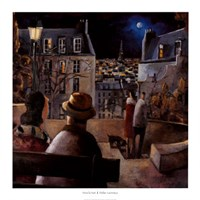 "Paris la Nuit by Didier Lourenco - 37"" x 37"", FulcrumGallery.com brand"