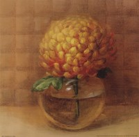 """Chrysanthemum in Glass by Danhui Nai - 12"""" x 12"""""""
