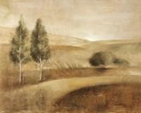 "Fresco Golden Hills by Silvia Vassileva - 20"" x 16"""