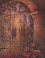 """Wisteria Garden II by Elaine Vollherbst-Lane - 22"""" x 28"""""""