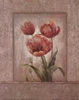 Crimson Trio II Fine Art Print