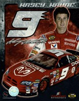 2006 Kasey Kahne collage- car, number, driver and signature Fine Art Print