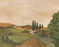 Sunny Tuscan Road Fine Art Print
