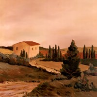 Sunny Tuscan Fields Fine Art Print