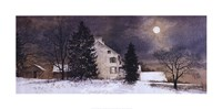 """A Cold Night by Ray Hendershot - 28"""" x 14"""""""
