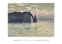 "The Cliff, Etretat, Sunset, 1883 by Claude Monet, 1883 - 36"" x 26"""