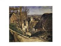 """The House of the Hanged Man (La maison du pendu), Auvers sur Oise, 1873 by Paul Cezanne, 1873 - 14"""" x 11"""""""