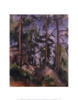 """Pines and Rocks (Fontainebleau), 1897 by Paul Cezanne, 1897 - 11"""" x 14"""""""